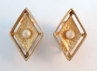 Vintage ' Debutante ' Clip On Earrings By Sarah Coventry.